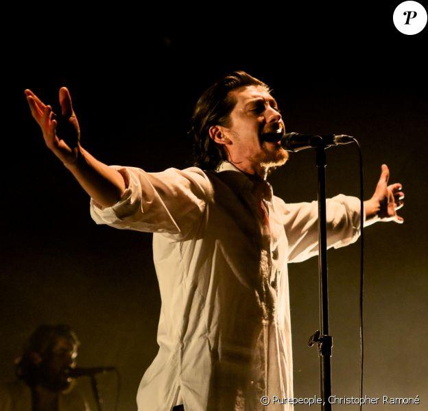Alex Turner - Arctic Monkeys en concert au Zénith de Paris, le 30 mai 2018.