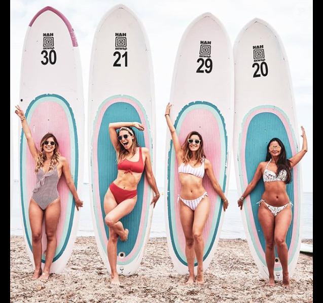 Laury Thilleman en bikini à Cannes le 31 mai 2018.