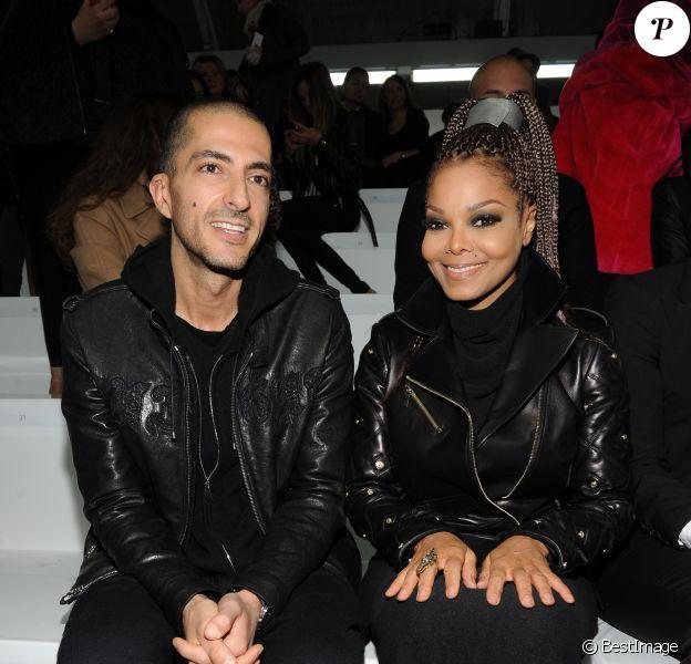 Wissam al Mana, Janet Jackson au defile Versace a l'occasion de la fashion week automne/hiver 2013/2014 a Milan en Italie le 22 fevrier 2013.