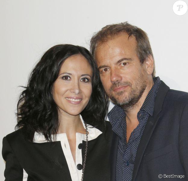 Fabienne Carat et Stéphane Henon à la cérémonie de clôture du 19ème Festival de la Fiction TV de La Rochelle. Le 16 septembre 2017 © Christophe Aubert