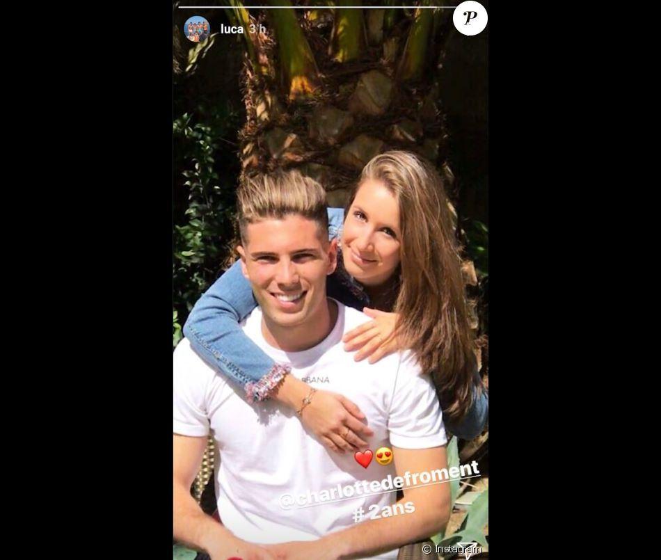 Luca Zidane dévoile l'identité de sa compagne à l'occasion de leurs deux ans d'amour. Instagram, le 5 juin 2018.