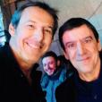 Jean-Luc Reichmann et Christian Quesada au Théâtre de la Michodière, le 10 février 2018.