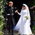 Le prince Harry et la duchesse Meghan de Sussex (Meghan Markle) le 19 mai 2018 à Windsor le jour de leur mariage.