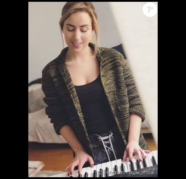 Maude joue du piano - Instagram, février 2018