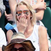 Estelle Lefébure et David Hallyday : Spectateurs enjoués à Roland-Garros