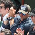David Hallyday dans les tribunes des Internationaux de France de Tennis de Roland Garros à Paris. Le 8 juin 2018 © Cyril Moreau / Bestimage