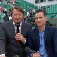"""Lionel Chamoulaud fait ses adieux à Roland-Garros sur """"Stade 2"""", le 9 juin 2018."""