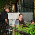 Justin Bieber et Hailey Baldwin vont dîner chez Casa Tua après être allés à l'église à Miami le 10 juin 2018.