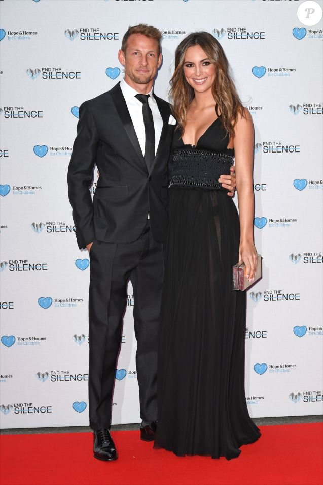"Jenson Button et Brittny Ward à la soirée caritative ""End The Silence"" qui a lieu aux studios d'Abbey Road à Londres, le 1 juin 2016."