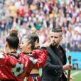 Robbie Williams - Cérémonie d'ouverture de la Coupe du Monde de football 2018 au complexe olympique Loujniki à Moscou, le 14 juin 2018.
