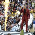 Robbie Williams et Aida Garifoullina - Cérémonie d'ouverture de la Coupe du Monde de football 2018 au complexe olympique Loujniki à Moscou, le 14 juin 2018.