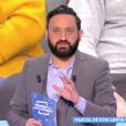 """Cyril Hanouna répond à Pascal de """"Koh-Lanta All Stars"""" dans son émission """"Touche pas à mon poste"""" sur C8. Le 15 mars 2018."""