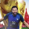 "La pochette de ""On va la pécho"", la chanson officielle des Bleus selon Cyril Hanouna. Mai 2018."