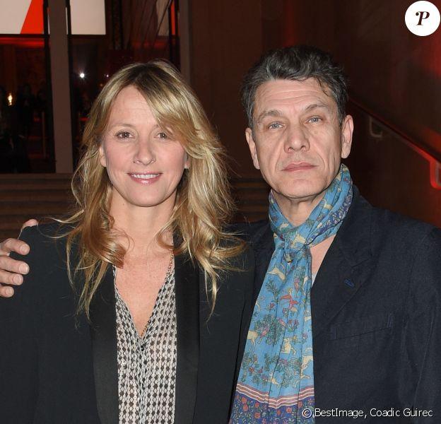 Marc Lavoine et sa femme Sarah - Soirée bicentenaire des Caisses d'Epargne au Palais de Chaillot à Paris, France, le 21 mars 2018. © Coadic Guirec/Bestimage