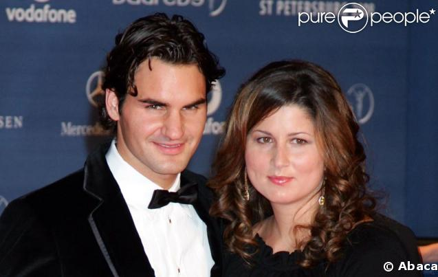 Roger Federer et son épouse Mirka