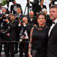 """Charlotte Valandrey et son compagnon lors de la montée des marches du film """" Burning """" lors du 71ème Festival International du Film de Cannes. Le 16 mai 2018 © Giancarlo Gorassini / Bestimage"""
