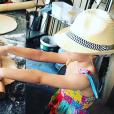Rebecca Hampton publie une photo de sa fille Eléa (4 ans) sur Instagram. Juin 2018.
