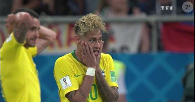 Neymar lors du match de la Coupe du monde 2018 Brésil-Suisse - TF1, 17 juin 2018
