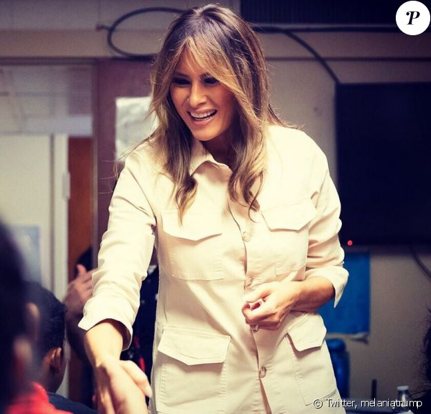 Melania Trump a partagé cette photo d'elle sur Twitter lors de sa visite dans un centre de rétention au Texas, le 21 juin 2018