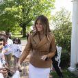 Donald Trump et Melania Trump présentent leur projet pour lutter contre le harcèlement scolaire aux Etats-Unis. Washington DC, le 7 mai 2018.