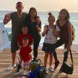Franck Ribéry en famille pour les fêtes de fin d'année, aux Maldives. Photo publiée sur Instagram, le 27 décembre 2017.