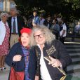 Pierre-Jean Chalençon, Régine - Soirée d'inauguration de la 35ème fête foraine des Tuileries au Jardin des Tuileries à Paris, le 22 juin 2018. © Coadic Guirec/Baldini/Bestimage