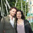 Chloé Lambert et son compagnon Thibault Ameline - Soirée d'inauguration de la 35ème fête foraine des Tuileries au Jardin des Tuileries à Paris, le 22 juin 2018. © Coadic Guirec/Baldini/Bestimage