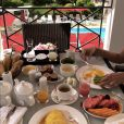 Laury Thilleman et son amoureux le chef Juan Arbelaez profite d'un séjour de rêve à l'Hôtel Barrière Le Majestic à Cannes, le week-end du 23 et 24 juin 2018.