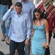 Cristiano Ronaldo et sa compagne Georgina Rodríguez vont dîner dans un restaurant de Malaga, Espagne, le 30 mai 2018.