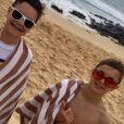 Britney Spears en vacances avec ses fils Sean Preston et Jayden James. Instagram, le 3 janvier 2018.