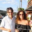 Tex et sa femme Béatrice - 6ème édition du Trophée de la Pétanque Gastronomique au Paris Yacht Marina à Paris, France, le 28 juin 2018. © Philippe Baldini/Bestimage