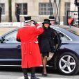 La comtesse Alexandra de Frederiksborg lors des obsèques du prince Henrik de Danemark le 20 février 2018 à Copenhague.
