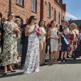 Le prince Nikolai de Danemark a pu compter le 27 juin 2018 sur la présence de son père le prince Joachim, sa mère la comtesse Alexandra de Frederiksborg (robe blanche) et sa belle-mère la princesse Marie de Danemark (robe noire) lors de sa cérémonie de remise de diplôme à l'école privée d'Herlufsholm.