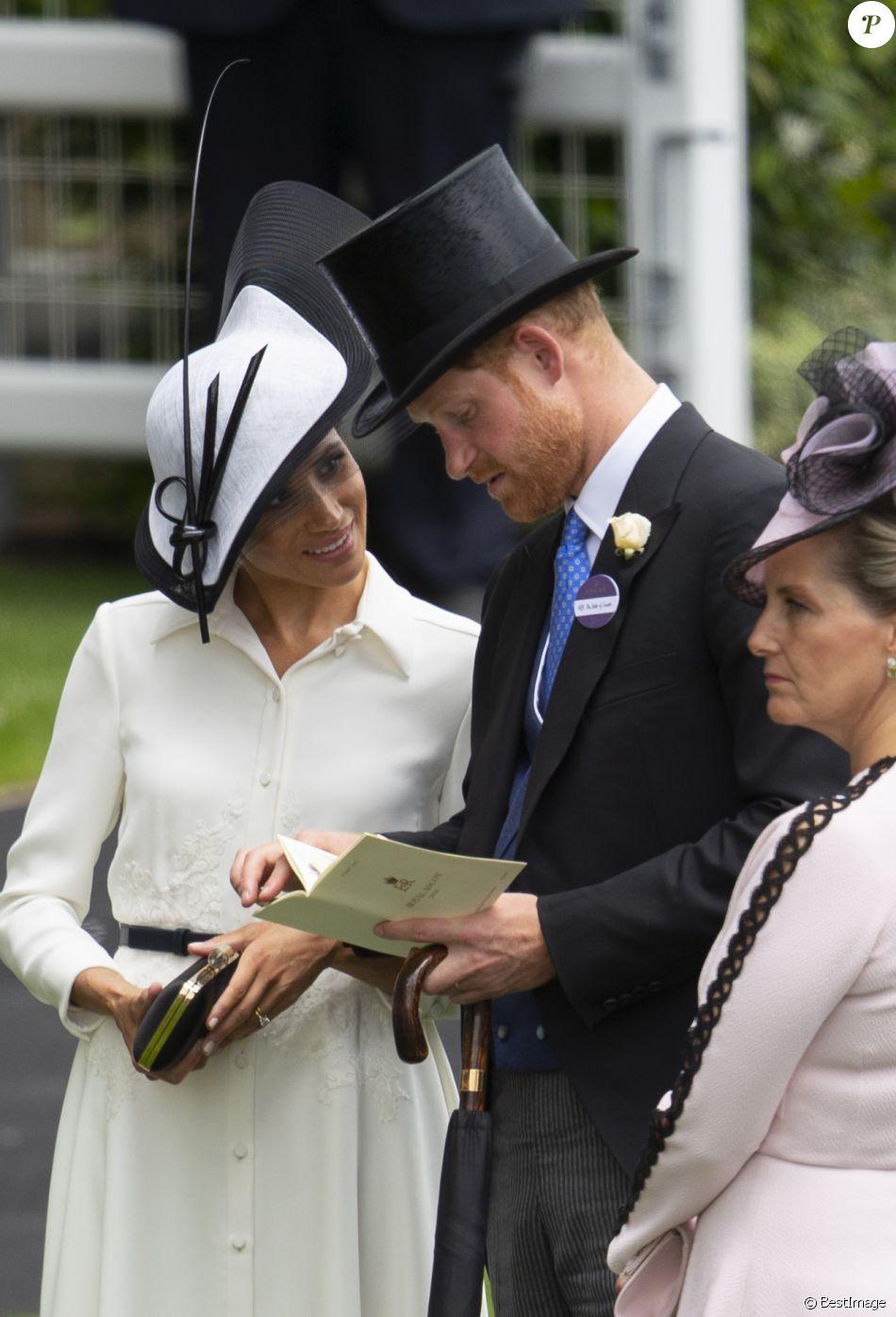 La duchesse Meghan de Sussex (Meghan Markle) et le prince Harry le 19 juin 2018 au Royal Ascot.