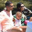 Younes Bendjima, Kourtney Kardashian, Reign Disick - - Kourtney Kardashian profite de jolies vacances au soleil en compagnie de ses enfants et de son compagnon Younes Bendjima sur un yacht au large de Portofino en Italie, le 30 juin 2018