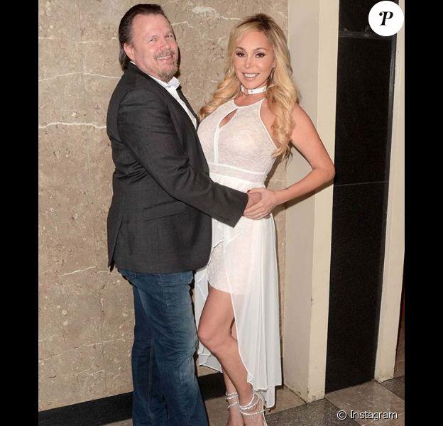 Mary Carey et son compagnon Joseph Brownfield le jour de leur mariage à Beverly Hills le 27 juin 2018