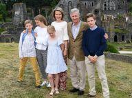 Philippe et Mathilde de Belgique : Ambiance ruines pour les vacances en famille