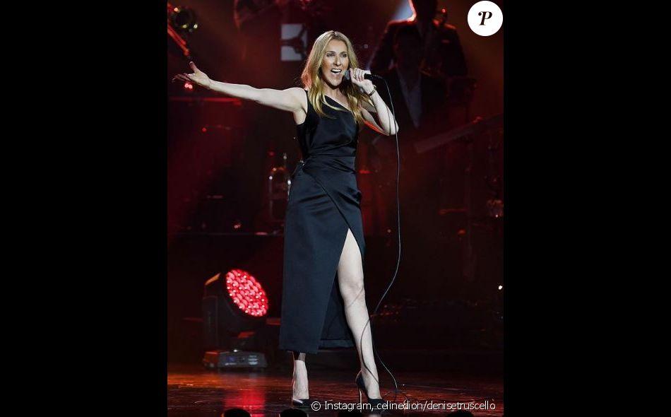 Céline Dion sur scène à Macao, juin 2018.