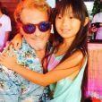 Johnny Hallyday et sa fille Jade. Instagram, le 3 août 2015.