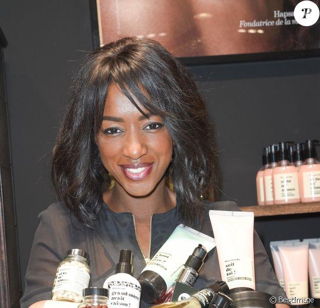 Exclusif - Hapsatou Sy - La marque HapsatouSy ouvre sa première boite à beauté au centre commercial de Belle Epine à Thiais, France, le 26 mai 2018. © Coadic Guirec/Bestimage