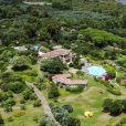 Exclusif - Vues aériennes de la maison H2O qu'a loué Georges Clooney à Olbia en Sardaigne le 1er juillet 2018. La maison appartient à Ezio Maria Simonelli, comptable et homme proche de l'ancien président italien Silvio Berlusconi.