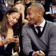 Thierry Henry et sa compagne Andrea à Barcelone en 2008.