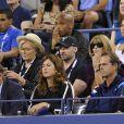 Thierry Henry, Andrea Rajacic, Hugh Jackman, Anna Wintour et Mirka Federer à l'US Open de New York en 2014.
