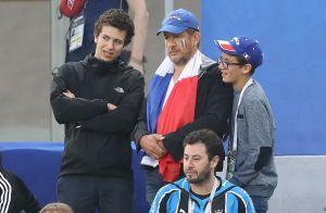 France-Belgique : Dany Boon et Patrick Bruel fous de joie avec leurs fils