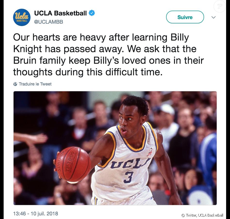 L'équipe de basket de l'UCLA rend hommage à Billy Knight, retrouvé mort le 8 juillet 2018 à Phoenix.