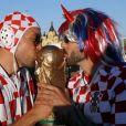 Supporters avant le match de coupe du monde opposant l'Argentine à la Croatie à Nijni Novgorod, Russie, le 21 juin 2018. La Croatie a gagné le match 3-0.
