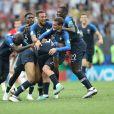 La joie des joueurs de l'équipe de France après leur victoire - Finale de la Coupe du Monde de Football 2018 en Russie à Moscou, opposant la France à la Croatie (4-2) le 15 juillet 2018 © Cyril Moreau/Bestimage
