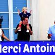 Antoine avec sa femme Erika Choperena et sa fille Mia - Antoine Griezmann venu remercier les supporters de sa ville natale de Mâcon, suite à la victoire de la coupe du monde de football 2018 le 20 juillet 2018 © Romain Doucelin / Bestimage
