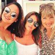 Valérie Bègue en vacances à Saint-Tropez avec Claude Deschamps et Mélanie Page. Instagram, le 21 juillet 2018.