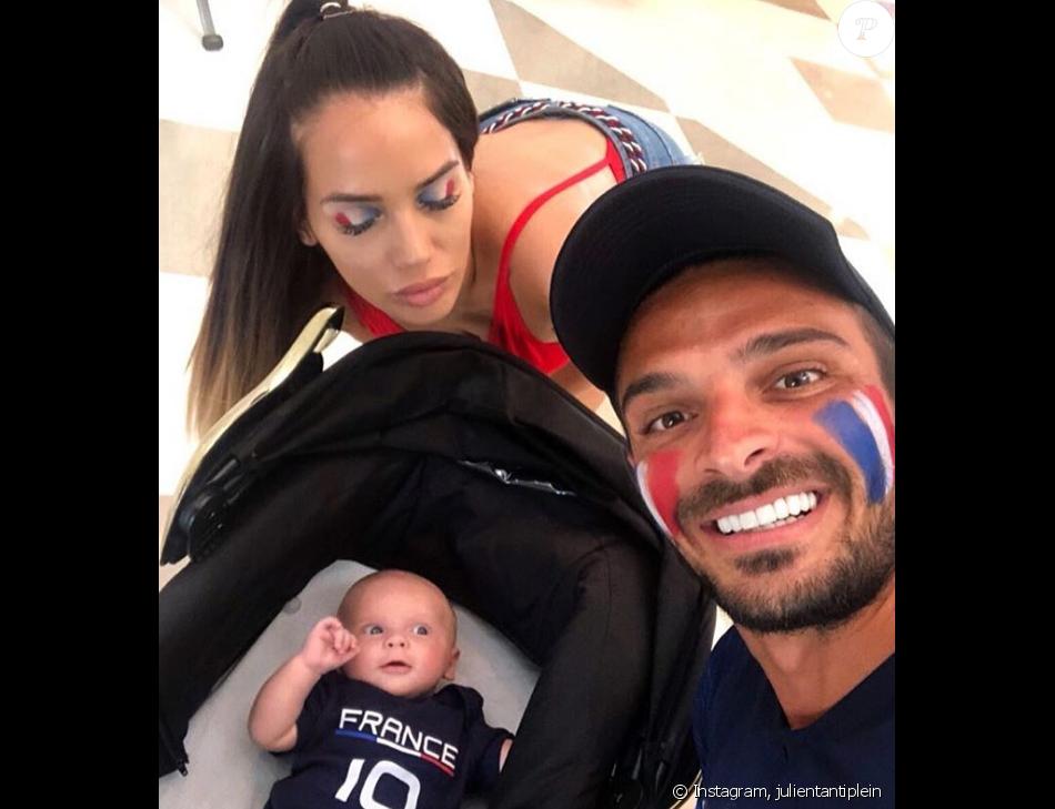 Manon Marsault, Julien Tanti et leur fils Tiago , Instagram, 15 juillet 2018